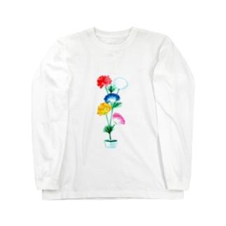 おもいで水中花 Long sleeve T-shirts