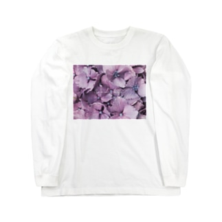 雨の紫陽花(Goodbye) Long sleeve T-shirts
