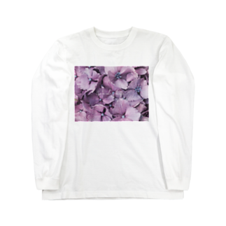 spicaの雨の紫陽花(Goodbye) Long sleeve T-shirts