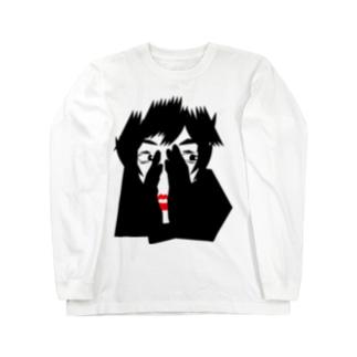 ちら見シリーズ-01 Long sleeve T-shirts