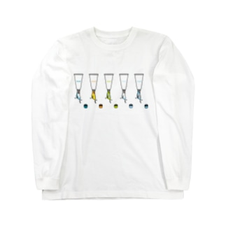 チューブタイプのインコ Long sleeve T-shirts