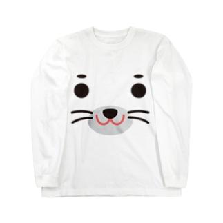 アザラシ-animal up-アニマルアップ- Long sleeve T-shirts
