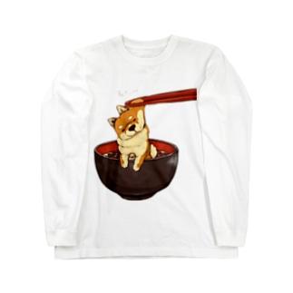 柴犬 むにぃ〜 Long sleeve T-shirts