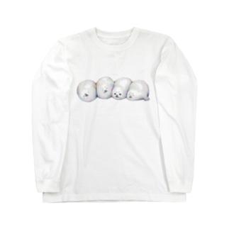 ごろごろアザラシ赤ちゃん Long sleeve T-shirts