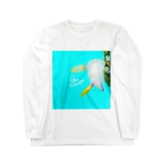ゾウゲイロウミウシ Long sleeve T-shirts