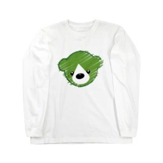 くまさんロゴマーク Long sleeve T-shirts