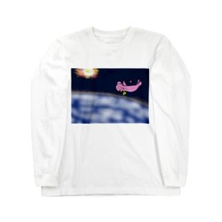 大気圏突入 Long sleeve T-shirts