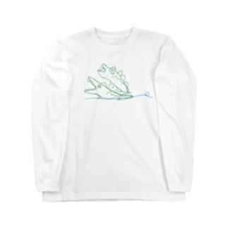 ワニパニ Long sleeve T-shirts