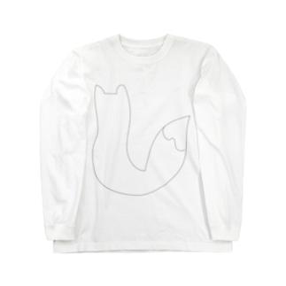 キツネの日向ぼっこ Long sleeve T-shirts