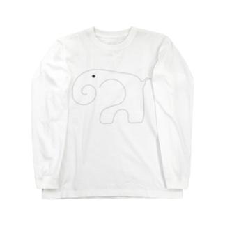 草原のぞうさん Long sleeve T-shirts
