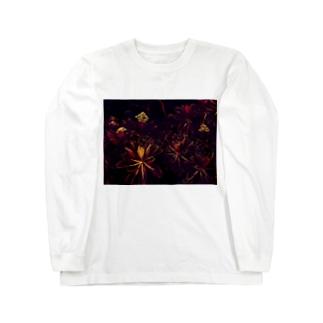 BLACK FLOWERS Long sleeve T-shirts