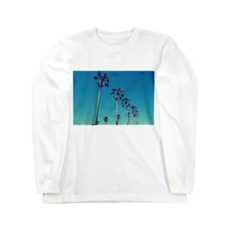 アオゾラヤシ Long sleeve T-shirts