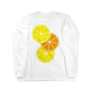 レモンとオレンジ Long sleeve T-shirts