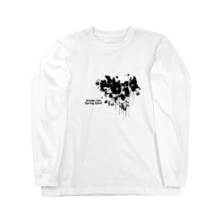 春が漏れてる Long sleeve T-shirts