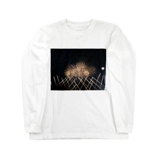 あの日の花火のおもひで Long sleeve T-shirts