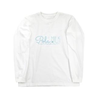 鯨窓机(第二極地観測所)のPola MILK Long sleeve T-shirts