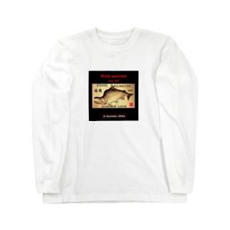 国後 カラフトマス!生命たちへ感謝を捧げます。 Long sleeve T-shirts