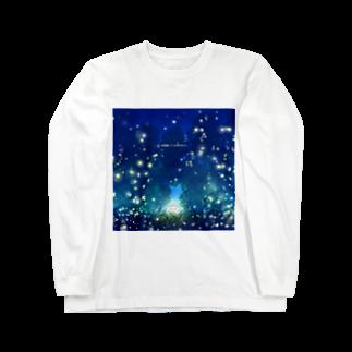 灯さかすの蛍。 Long sleeve T-shirts