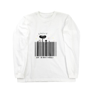 Hello!バーコード Long sleeve T-shirts