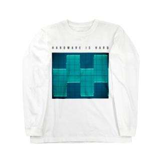 HARDWARE IS HARD Long sleeve T-shirts