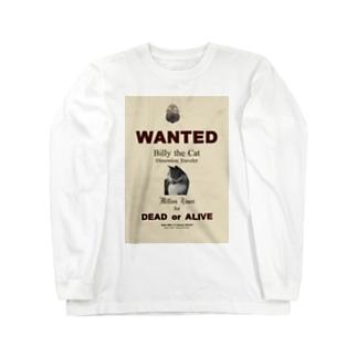 ウォンテッド:手配ポスター WANTED: Poster Long sleeve T-shirts