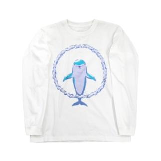 バブルリングドルフィン Long sleeve T-shirts