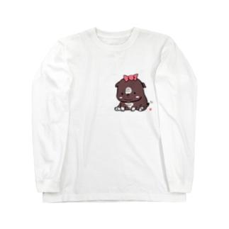 我が家のブルドッグ Long sleeve T-shirts