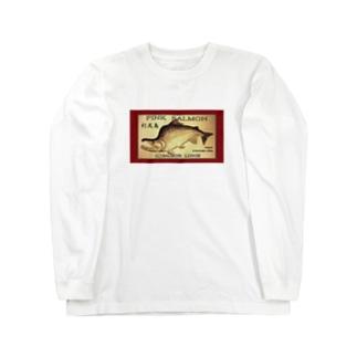 カラフトマス!利尻島【セッパリ;PINK SALMON】生命たちへ感謝を捧げます。※価格は予告なく改定される場合がございます。 Long sleeve T-shirts