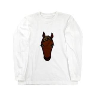 サラブレッド(鹿毛) Long sleeve T-shirts