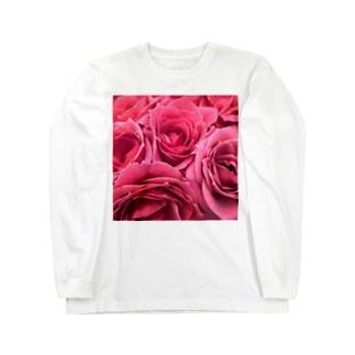 ピンクローズ Long sleeve T-shirts