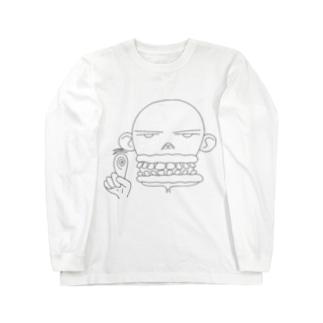 スキンヘッドのお兄さん Long sleeve T-shirts