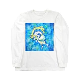 青い眠り Long sleeve T-shirts