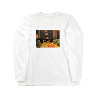 名画「JavaScriptのthisを教えるpastak」 Long sleeve T-shirts