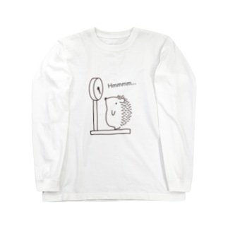 ハリネズミの体重測定 Long sleeve T-shirts
