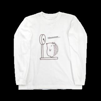 和田ありすの不思議なおみせのハリネズミの体重測定 Long sleeve T-shirts