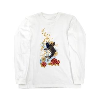 昇り鯉 Long sleeve T-shirts