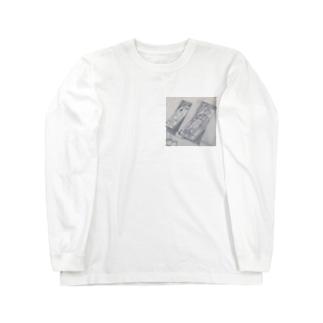 海外イラスト風 Long sleeve T-shirts