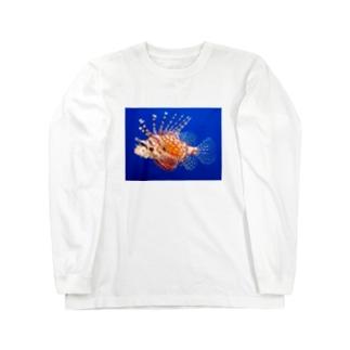 ミノカサゴ Long sleeve T-shirts