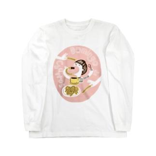 """スペイン語フレーズシリーズ#2 """"Domingo de churros"""" Long sleeve T-shirts"""
