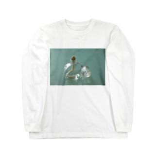アルコールランプ(ヨコ) Long sleeve T-shirts