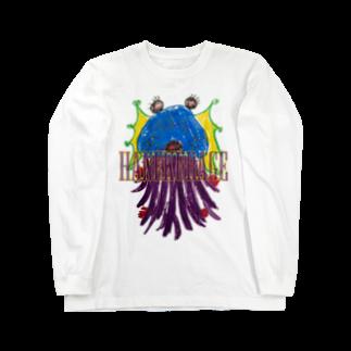 ICHITA_GAHAKUのHANEKURAGE2 Long sleeve T-shirts