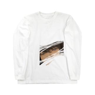見つめるイケメン Long sleeve T-shirts