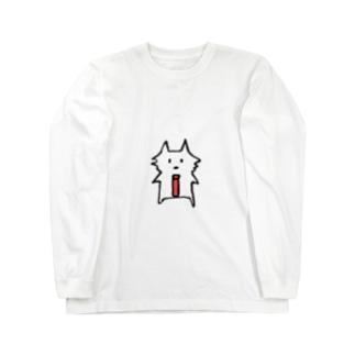 サコツネコ(文字なし) Long sleeve T-shirts