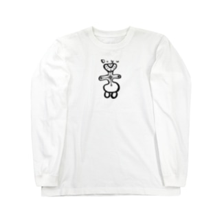 土偶1くろ Long sleeve T-shirts