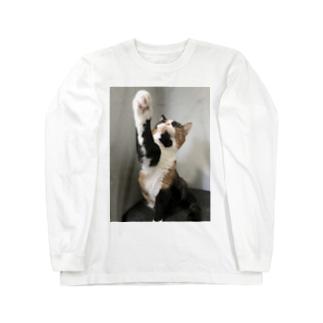 三毛猫 あんず上段突き Long sleeve T-shirts
