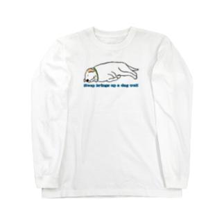 寝る犬は育ちすぎる? Long sleeve T-shirts