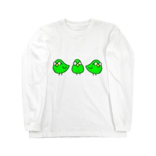 めがわるいとり Long sleeve T-shirts