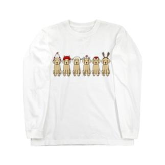 かぶりもの Long sleeve T-shirts