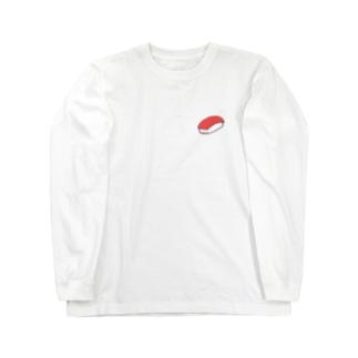 まぐろ 寿司 Long sleeve T-shirts