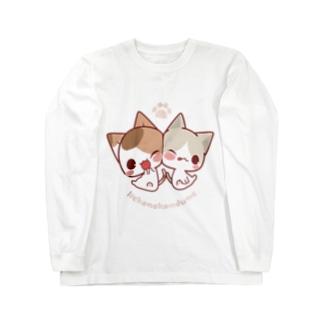みけ&ぽち Long sleeve T-shirts
